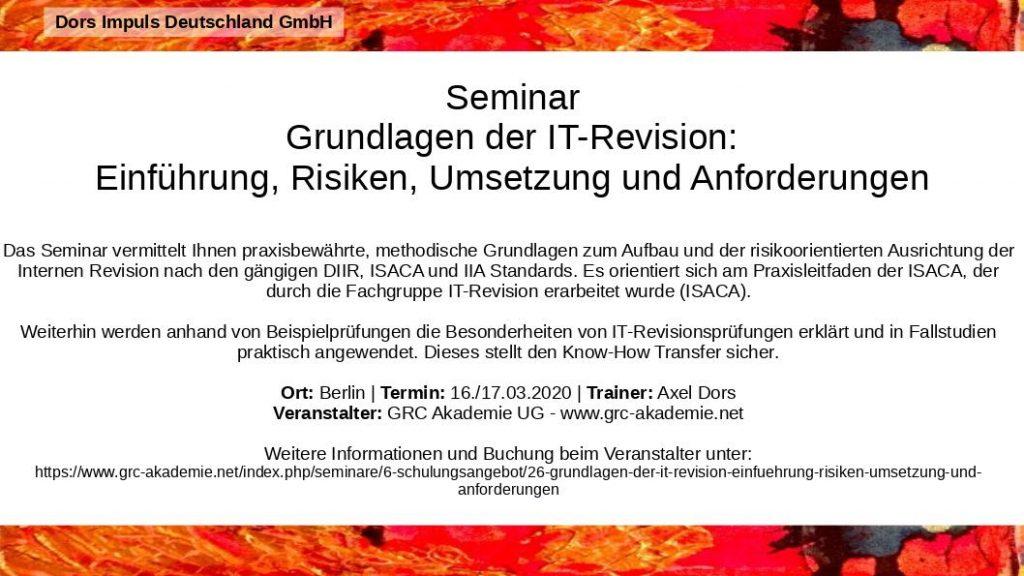 Grundlagen IT-Revision